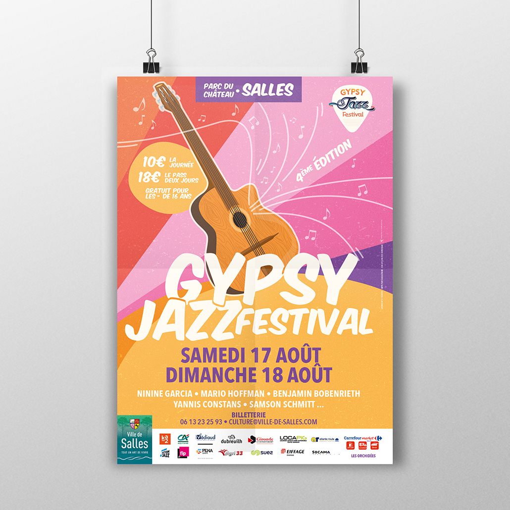 Affiche Gypsy Jazz Festival KA2 COMMUNICATION