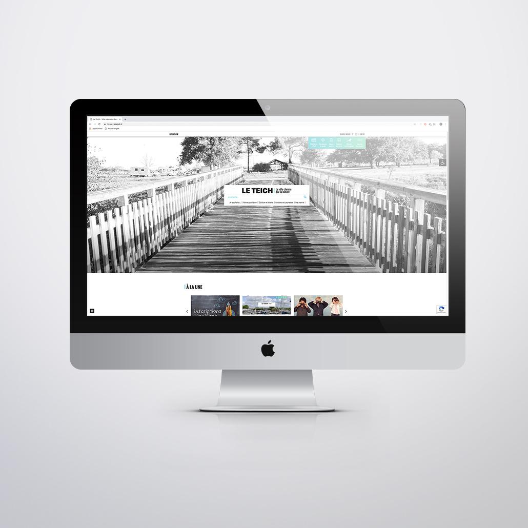 Refonte du site Internet de la ville du Teich