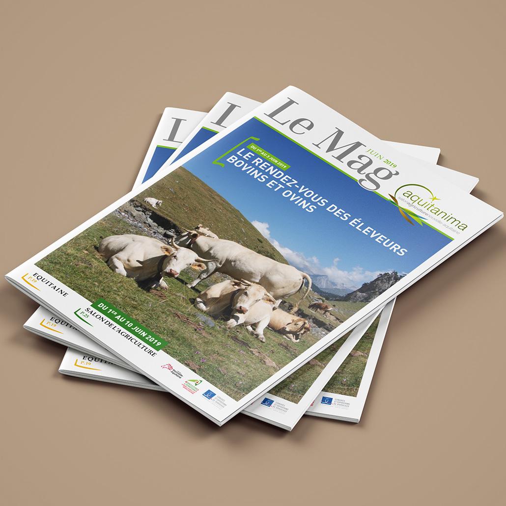 AQUITANIMAG - Mise en page Magazine