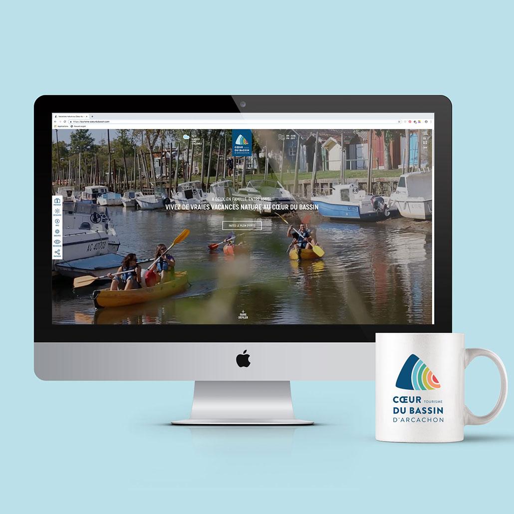 Refonte site web office de tourisme Coeur du Bassin d'Arcachon